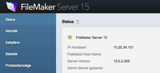 filemakerserverinfo